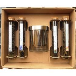Dárková kazeta 4x cejlonský čaj se skleněným hrnkem