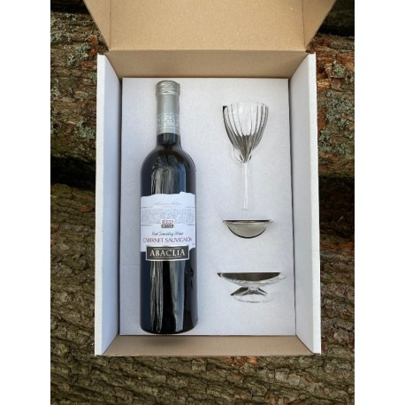 Dárkový box - Cabernet Sauvignon polosuché + dekantér OXIVIN