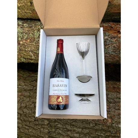Dárkový box - Cabernet Sauvignon suché + dekantér OXIVIN